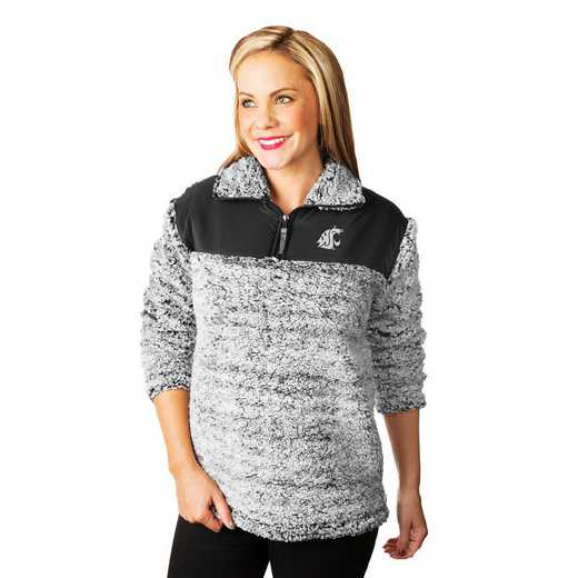 """Washington State Cougars """"Winter Essential"""" Sherpa Pullover By Gameday Couture"""