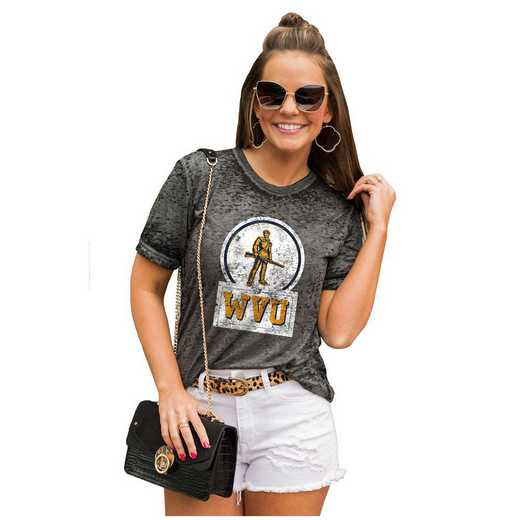 West Virginia Mountaineers Let The Good Vibes Roll Tee by Gameday Couture