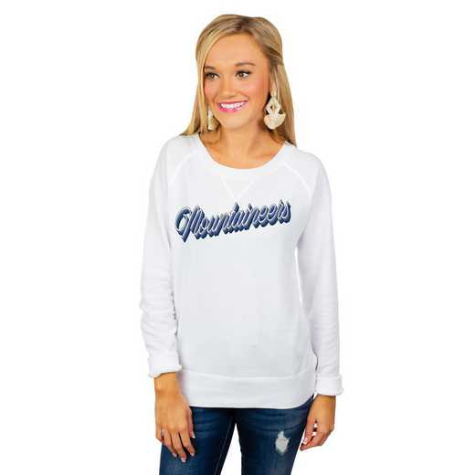 "West Virginia Mountaineers ""Casually Cute"" French Terry Pullover By Gameday Couture"