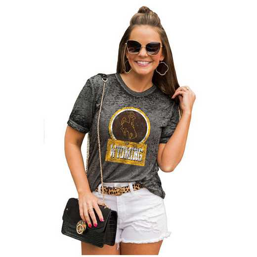 Wyoming Cowboys Let The Good Vibes Roll Tee by Gameday Couture