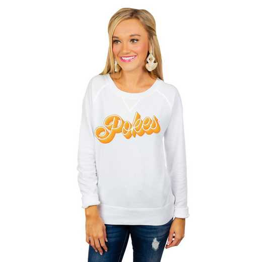 "Wyoming Cowboys ""Casually Cute"" French Terry Pullover By Gameday Couture"