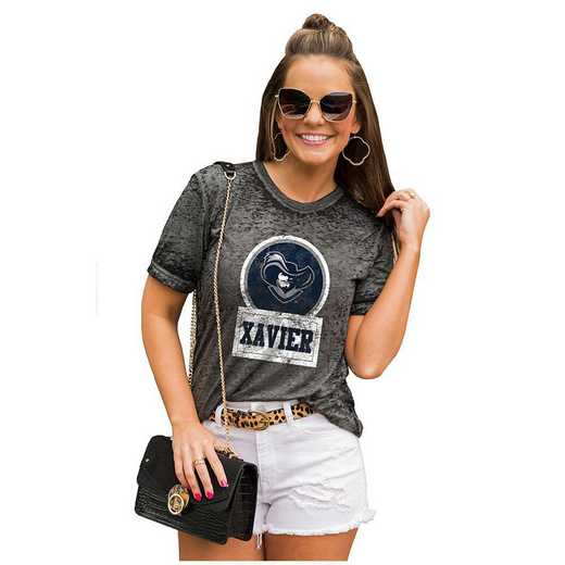 Xavier University Muskateers Let The Good Vibes Roll Tee by Gameday Couture