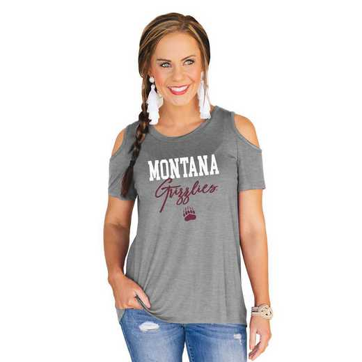 Montana Grizzlies Forever a Fan Cold Shoulder Top by Gameday Couture