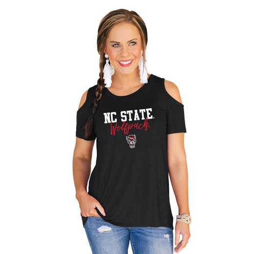 Nc State Wolfpack Forever a Fan Cold Shoulder Top by Gameday Couture