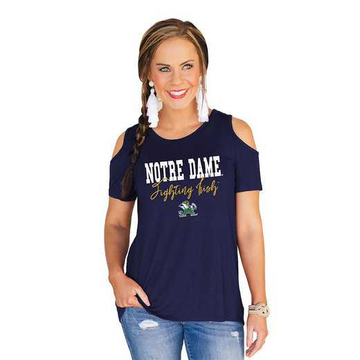 Notre Dame Fighting Irish Forever a Fan Cold Shoulder Top by Gameday Couture