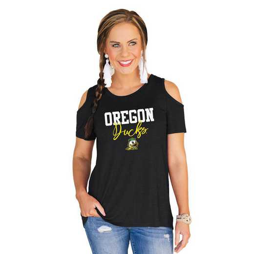 Oregon Ducks Forever a Fan Cold Shoulder Top by Gameday Couture