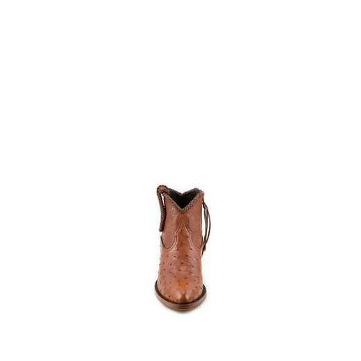 "Women's Brooke Exotic 5"" Brandy / Ostrich Fashion Boot"