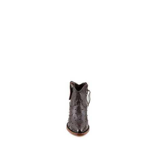"Women's Brooke Exotic 5"" Mahogany / Ostrich Fashion Boot"