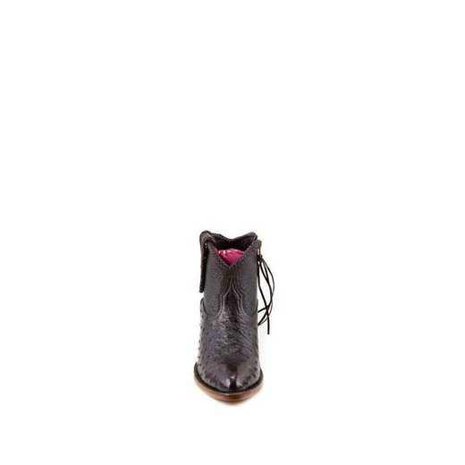 "Women's Brooke Exotic 5"" Black Cherry / Ostrich Fashion Boot"