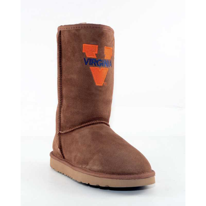 U Of Virginia Hickory Ladies Lambskin Roadie Boot by Gameday Boots