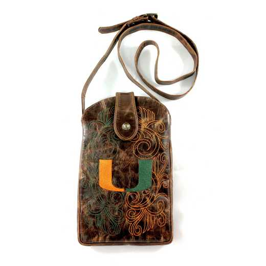 MIA-P061-1: U OF MIAMI Gameday Boots Purse