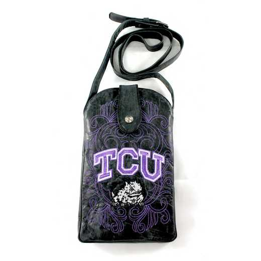 TCU-P062-1: TEXAS CHRISTIAN Gameday Boots Purse