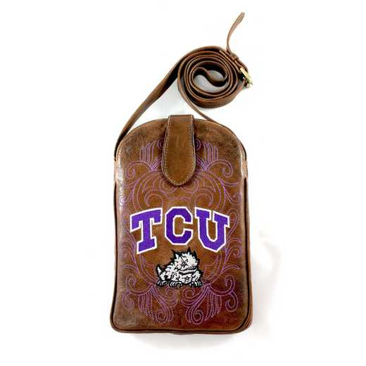 TCU-P062-2: TEXAS CHRISTIAN Gameday Boots Purse