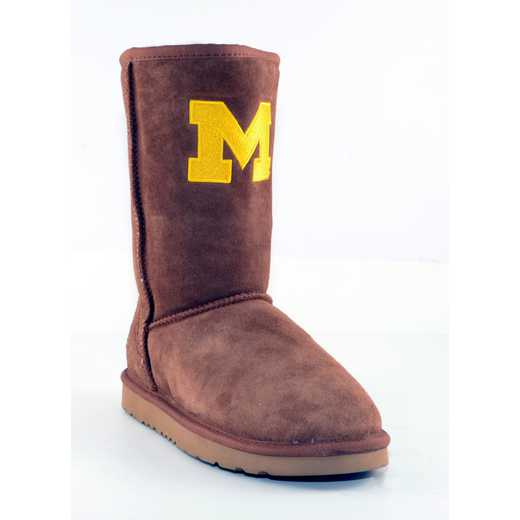 University Of Michigan Hickory Ladies Lambskin Roadie Boot by Gameday Boots