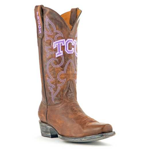 Men's TCU Horned Frogs Brown Executive Cowboy Boots by Gameday Boots