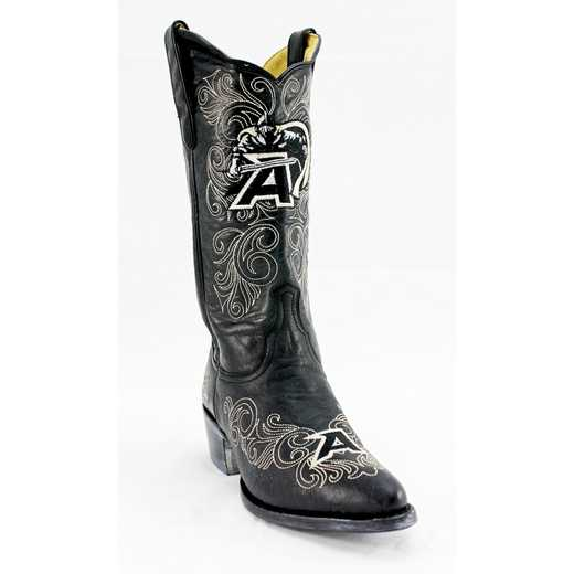 "Women's 13"" West Point Black Knights Tailgate Black Cowboy Boots by Gameday Boots"