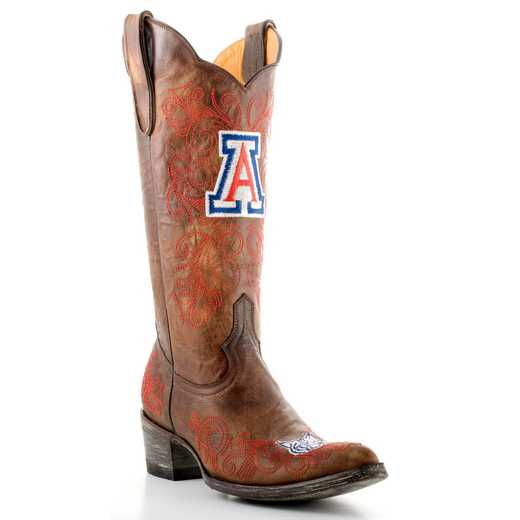 "Women's 13"" Arizona Wildcats Tailgate Brass Cowboy Boots by Gameday Boots"