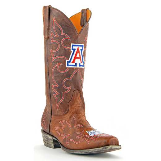 Men's Arizona Wildcats Tailgate Brass Cowboy Boots by Gameday Boots