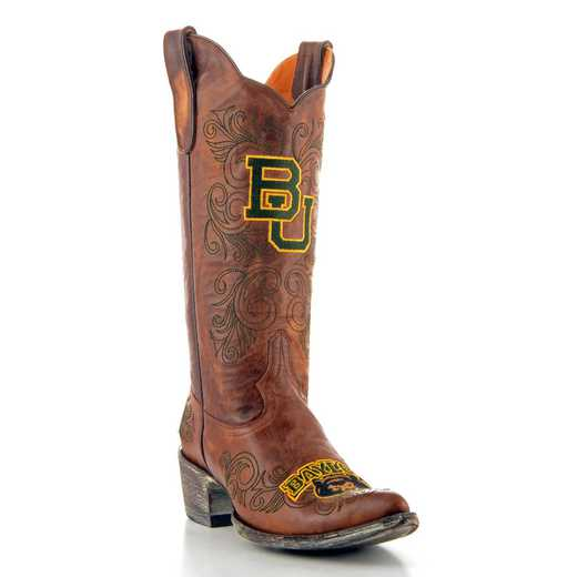 "Women's 13"" Baylor Bears Brass Tailgate Cowgirl Boots by Gameday Boots"
