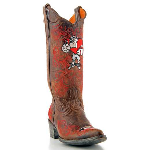 "Georgia Bulldogs Ladies 13"" Boots by Gameday Boots"