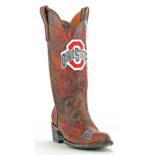 Ohio State Ladies 13'' Brass Boots by Gameday Boots