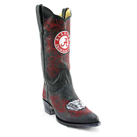 "Women's 13"" University of Alabama Crimson Tide Black Cowboy Boots by Gameday Boots"