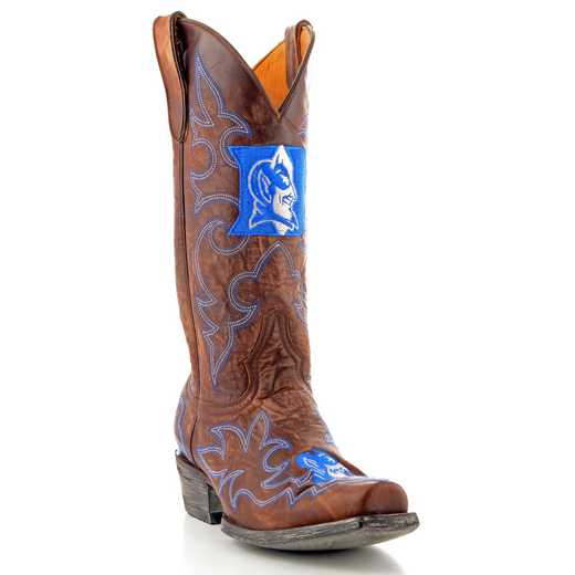 Men's Duke Blue Devils Brass Tailgate Cowboy Boots by Gameday Boots