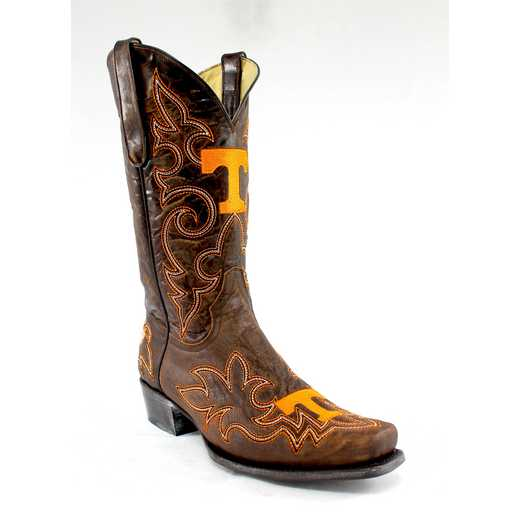 Men's Tennessee Volunteers Tailgate Brass Cowboy Boots by Gameday Boots