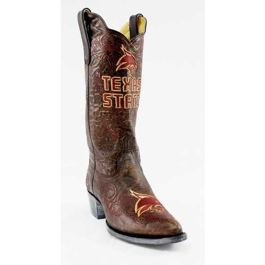 "Women's 13"" Texas State Bobcats Tailgate Cowgirl Boots by Gameday Boots"