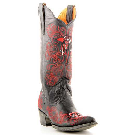 "Women's 13"" Texas Tech Red Raiders Tailgate Black Cowboy Boots by Gameday Boots"