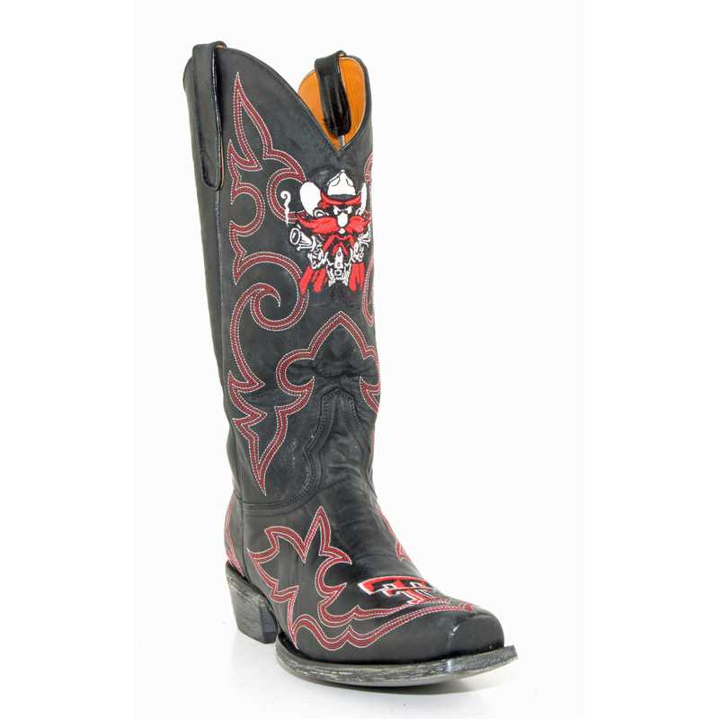 Men's Texas Tech Red Raiders Black Tailgate Cowboy Boots by Gameday Boots