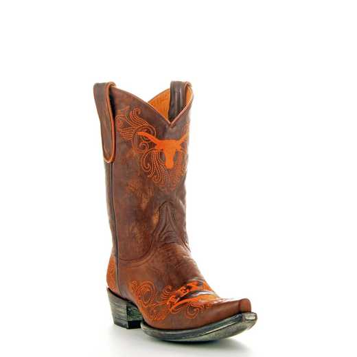 "Women's 10"" Texas Longhorns Brass Cowgirl Boots by Gameday Boots"