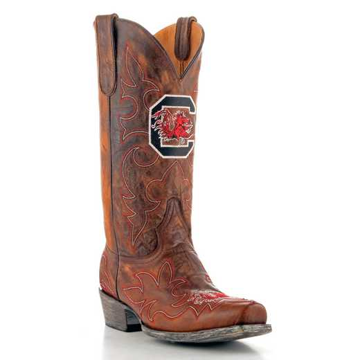 Men's South Carolina Gamecocks Brass Tailgate Cowboy Boots by Gameday Boots