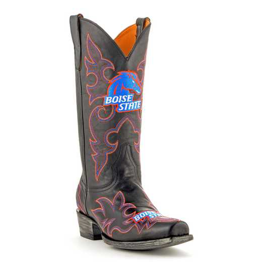 Men's Boise State Broncos Tailgate Black Cowboy Boots by Gameday Boots