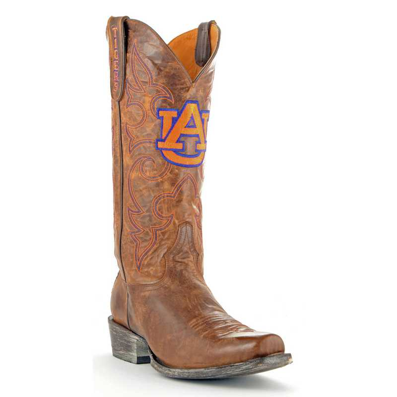 Men's Auburn Tigers Executive Brass Cowboy Boots by Gameday Boots