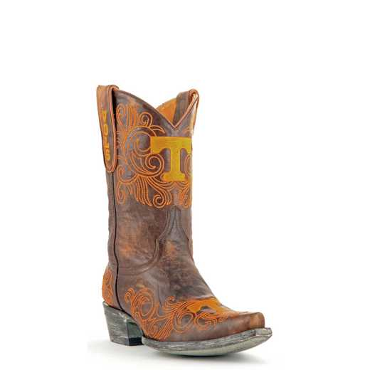 "Women's 10"" Tennessee Volunteers Tailgate Brass Cowboy Boots by Gameday Boots"