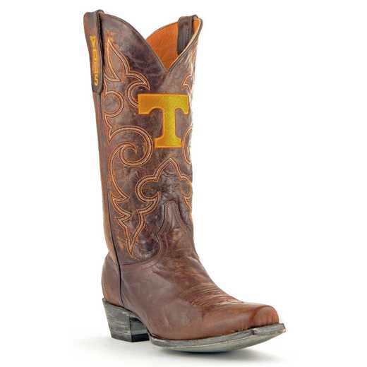 Men's Tennessee Volunteers Executive Brass Cowboy Boots by Gameday Boots