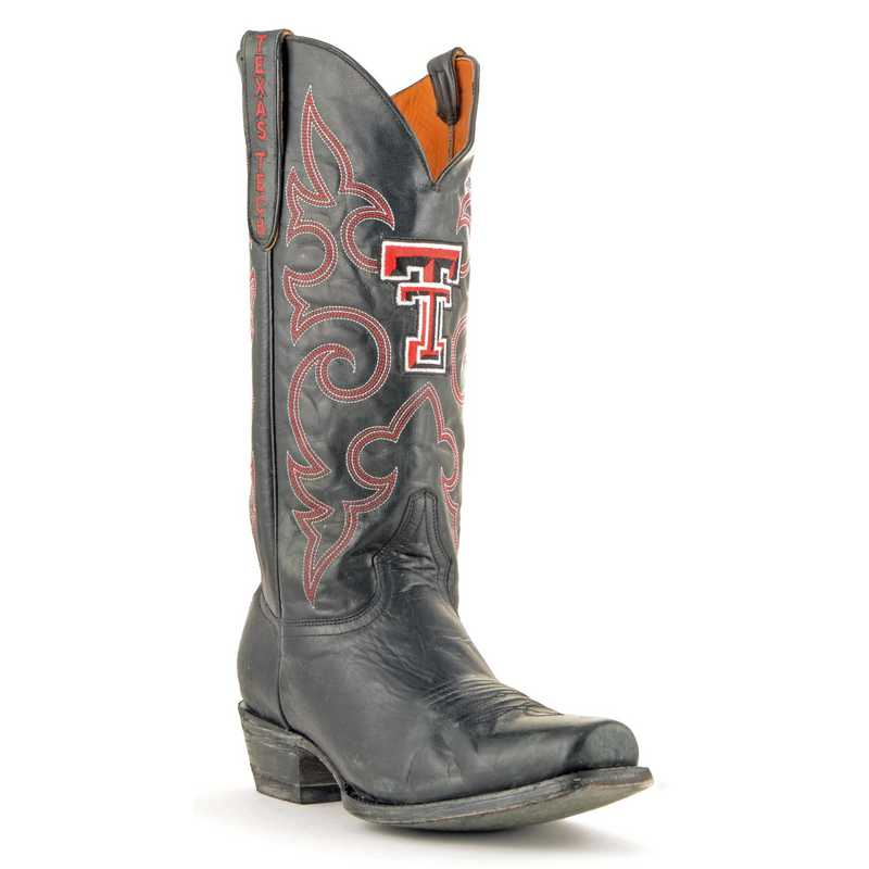 Men's Texas Tech Red Raiders Black Executive Cowboy Boots by Gameday Boots