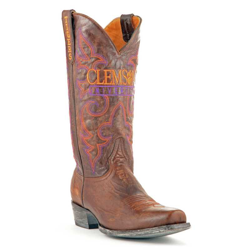 Men's Clemson University Tigers Executive Cowboy Boots by Gameday Boots
