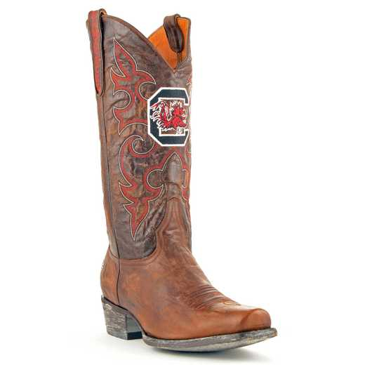 Men's South Carolina Gamecocks Brass Executive Cowboy Boots by Gameday Boots