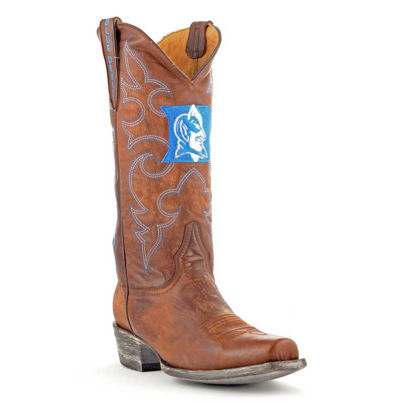 Men's Duke Blue Devils Brass Executive Cowboy Boots by Gameday Boots