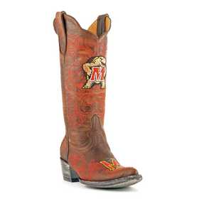 """Women's 13"""" University of Maryland Terrapins Tailgate Cowgirl Boots by Gameday Boots"""