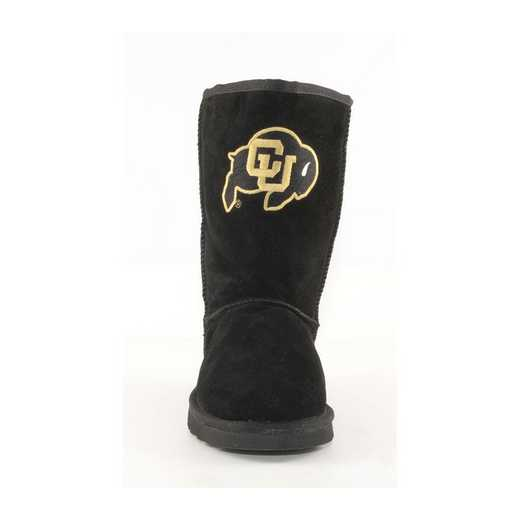 University Of Colorado Black Ladies Lambskin Roadie Boot by Gameday Boots
