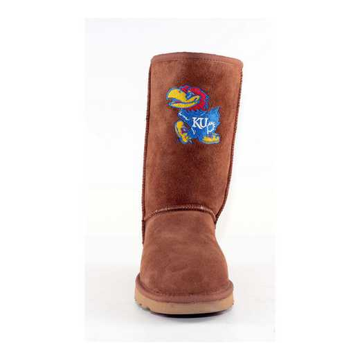 University Of Kansas (Ku) Hickory Ladies Lambskin Roadie Boot by Gameday Boots