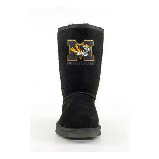 University Of Missouri Black Ladies Lambskin Roadie Boot by Gameday Boots