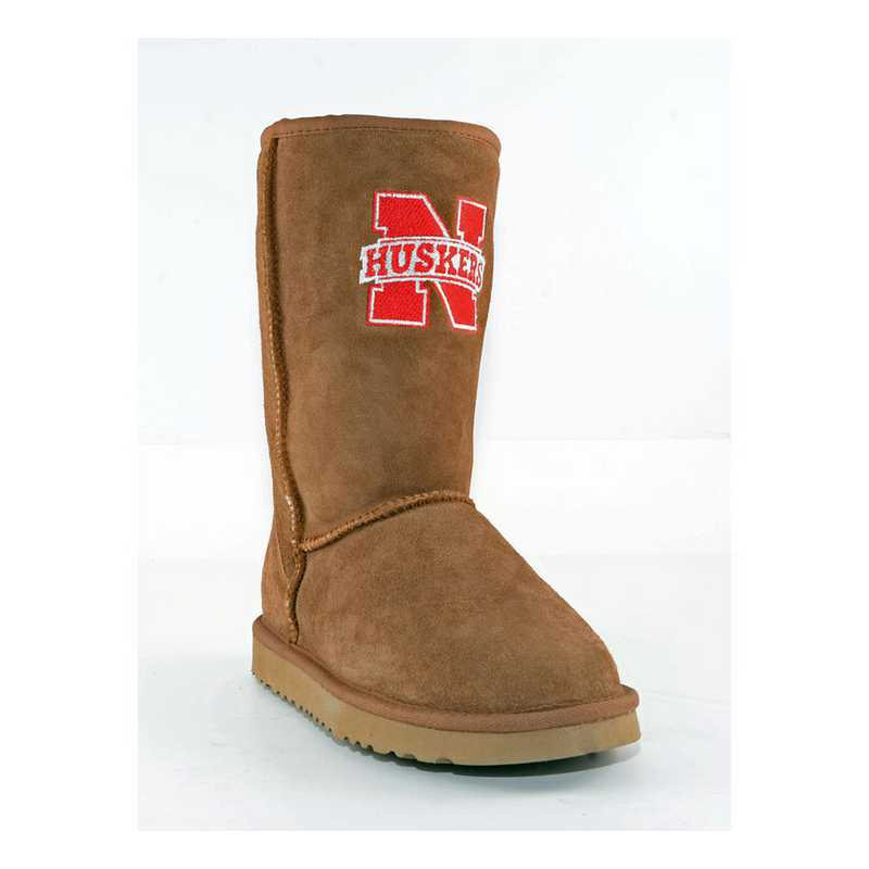 University Of Nebraska Hickory Ladies Lambskin Roadie Boot by Gameday Boots