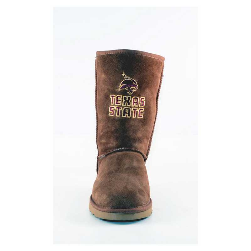 Texas State Hickory Ladies Lambskin Roadie Boot by Gameday Boots