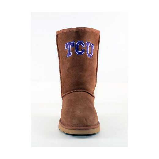 Texas Christian Hickory Ladies Lambskin Roadie Boot by Gameday Boots