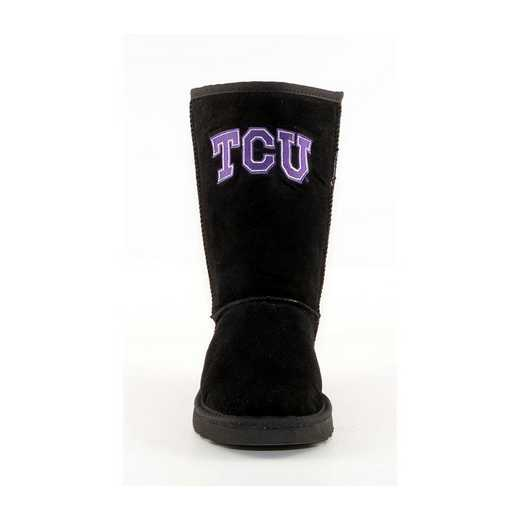 Texas Christian Black Ladies Lambskin Roadie Boot by Gameday Boots
