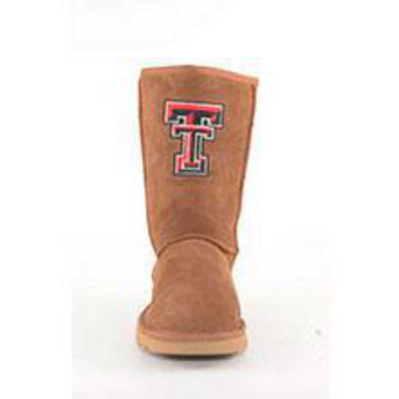Texas Tech Hickory Ladies Lambskin Roadie Boot by Gameday Boots